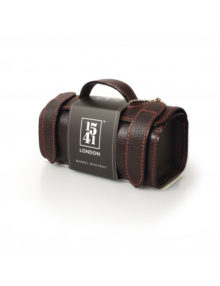 1541 London Small Barrel Wash Bag Dark Brown