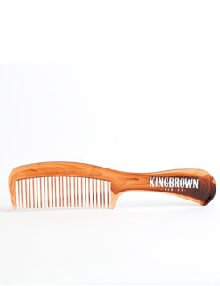 King Brown Tortoise Shell Handle Comb